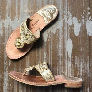 Jack Rogers Lacey Sandal in Gold Sz 8
